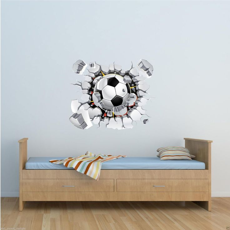 Football Full Colour Wall Art Sticker Mural Decal Graphic Boys Bedroom  Transfer Amazon Co. 16 Part 53