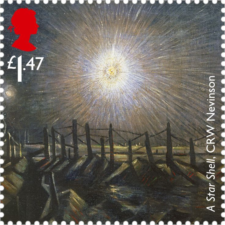 Christopher Richard Wynne Nevinson's painting A Star Shell, 1st class. More here: http://bit.ly/X2yQvb