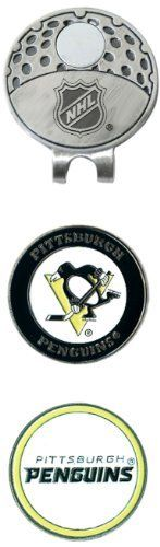 NHL Pittsburgh Penguins 2 Marker Cap Clip by Team Golf. $13.49. 2 double sided enamel color fill magnetic markers. The stylish cap clip easily attaches to any hat. The stylish cap clip easily attaches to any hat, and includes 2 double sided enamel color fill magnetic markers.