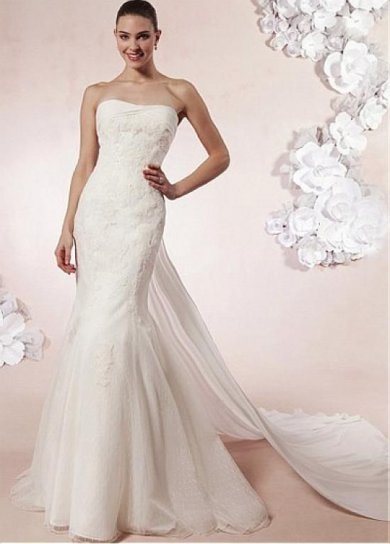 STUNNING TULLE SATIN CHIFFON MERMAID STRAPLESS RAISED WAIST WEDDING DRESS LACE FORMAL PROM PARTY BALL GOWN CUSTOM SIZE