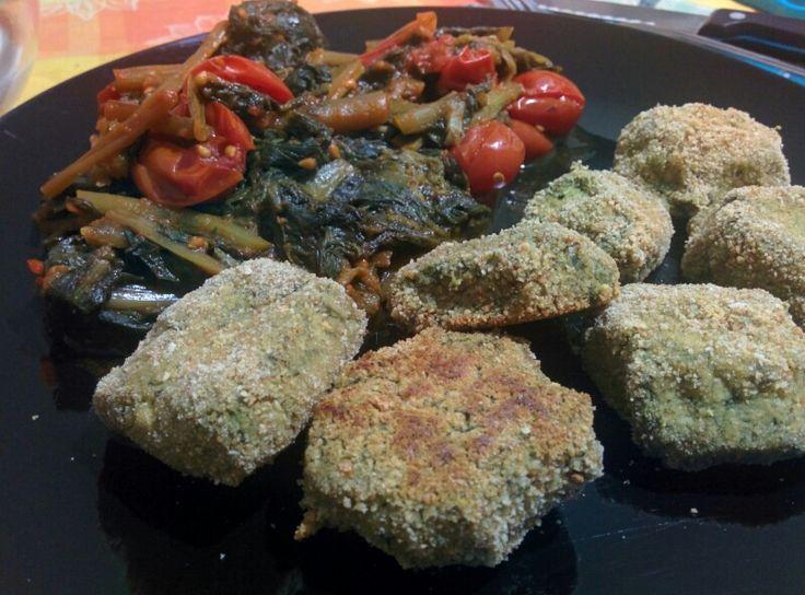 Tofuball with vegetables   polpette di #tofu con verdure dell'orto del nonno