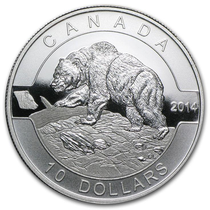 2014 Canada 1/2 oz Silver $10 Grizzly Bear