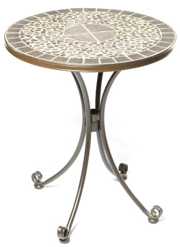 Great Alfresco Home 24 Inch Vulcano Bistro Table And Base, Mosaic Design «  ZPatioFurniture.