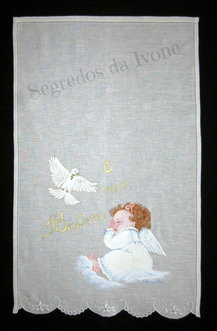 AB3- Pintura em toalha de batismo