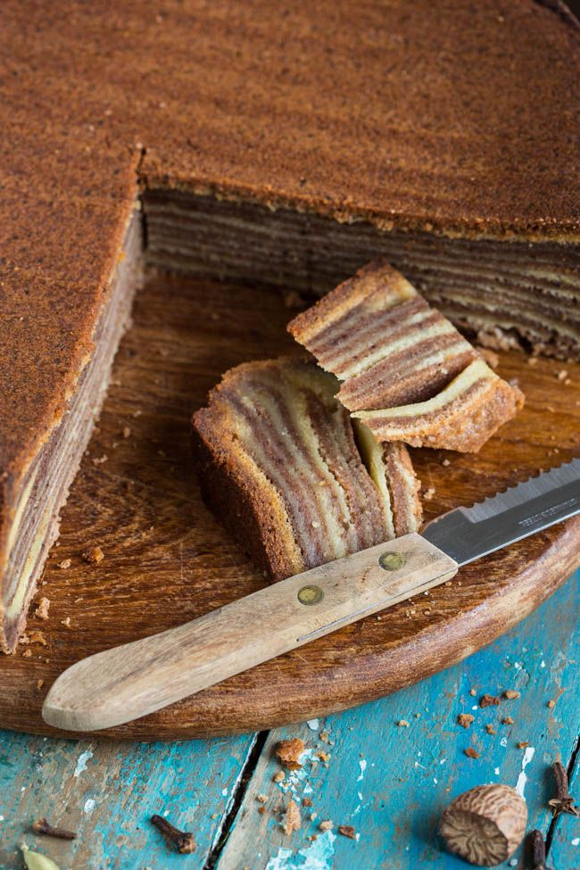 Little party with spekkoek (lapis legit or layered cake) - Simone's Kitchen EN