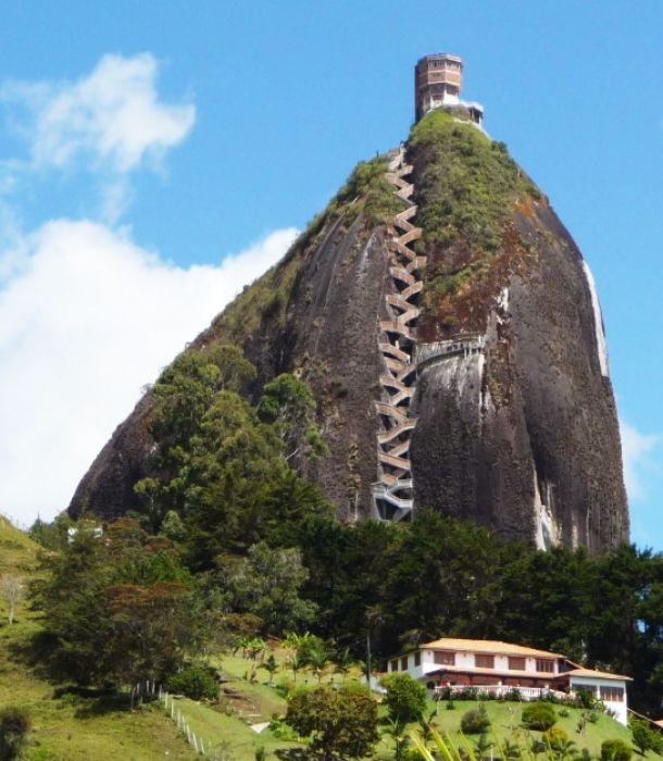 La piedra del Peñón de Guatapé
