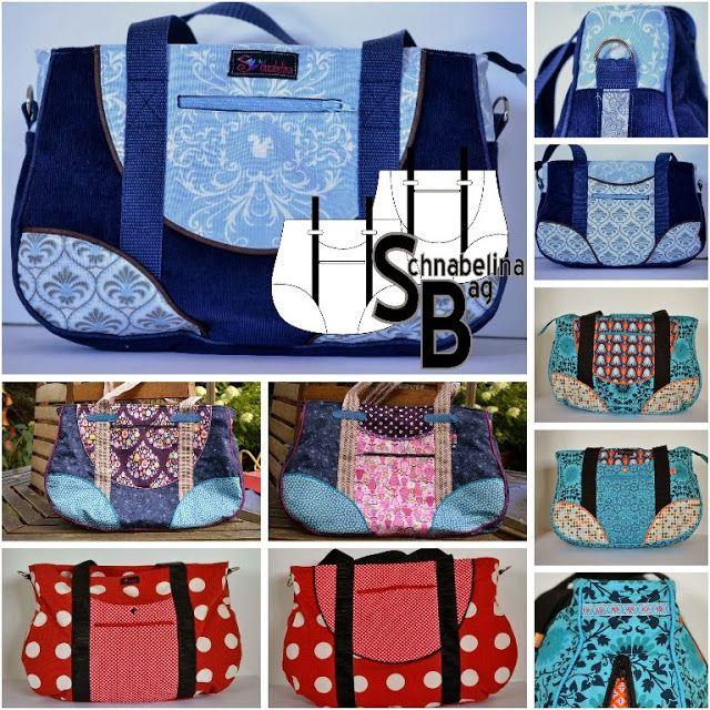 Handtasche, Schultertasche, Weekender, Kindergartentasche I Schnabelina Bag, 4 verschiedene Größen I kostenloses freebook nähen