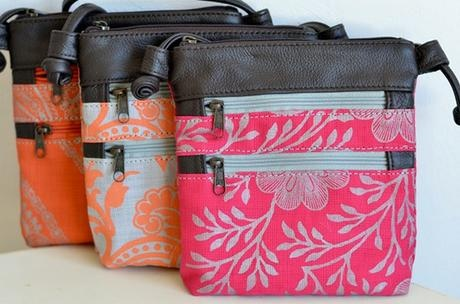 knotted bag by peppertree...love the fabrics!