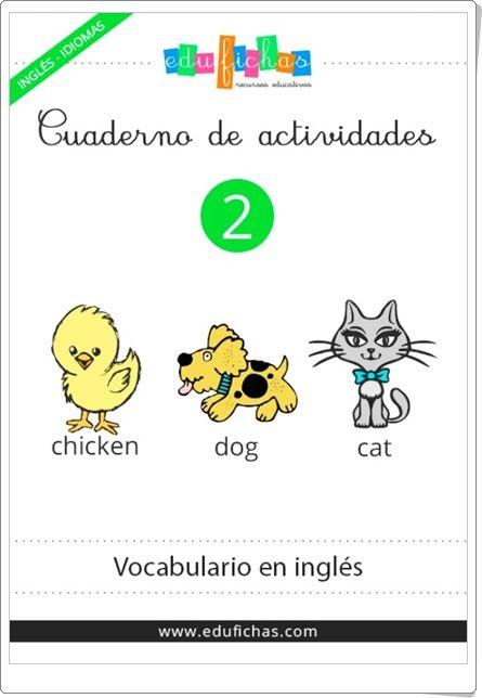 """Cuaderno de actividades de Inglés 2: """"Vocabulario"""" (Educación Infantil)"""