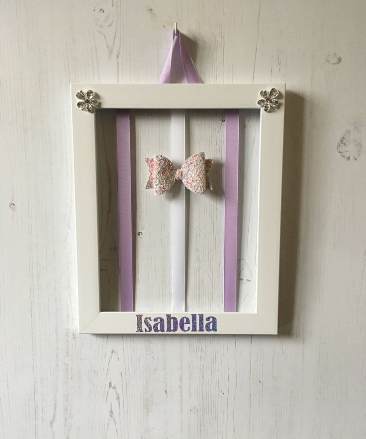 Hair bow holder, Personalized barrette holder, personalised hair clip holder, hair clip organiser, personalised hair bow holder, hair clip. by Thepurplebutterfly4 on Etsy https://www.etsy.com/uk/listing/459827398/hair-bow-holder-personalized-barrette