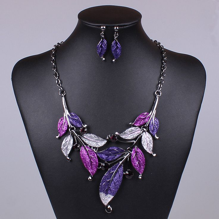 FM10288 Wholesale Metal Black Plated Handmade  Oil Spot High Quality Necklace&Earrings Vintage Chunky Jewelry Set For Wedding 288,65 руб.