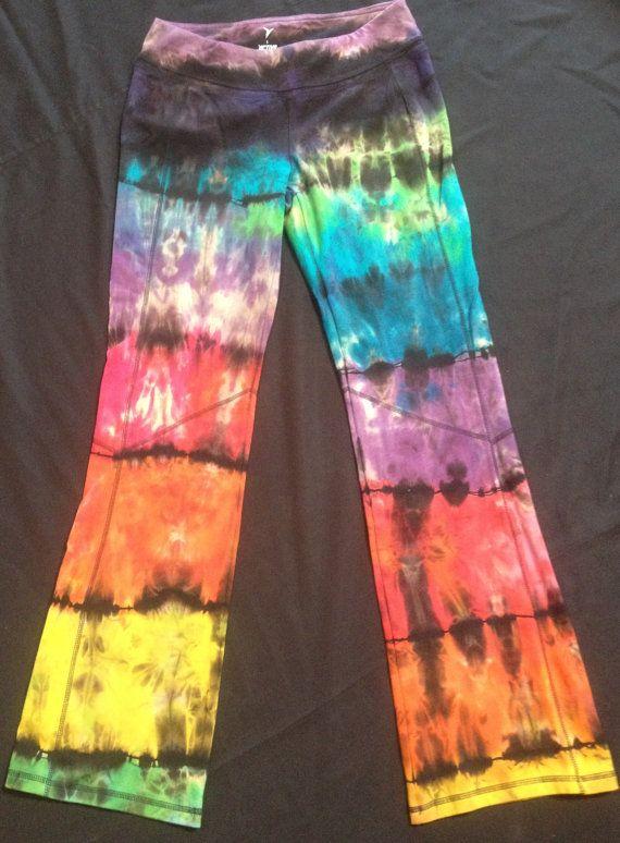 Benutzerdefinierte psychedelische Yogahosen, gleiche auf Rückseite Falten über der Taille oder Boot-Cut, süß!!!