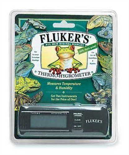 44% Off was $23.99, now is $13.49! Fluker's Digital Thermometer/Hygrometer