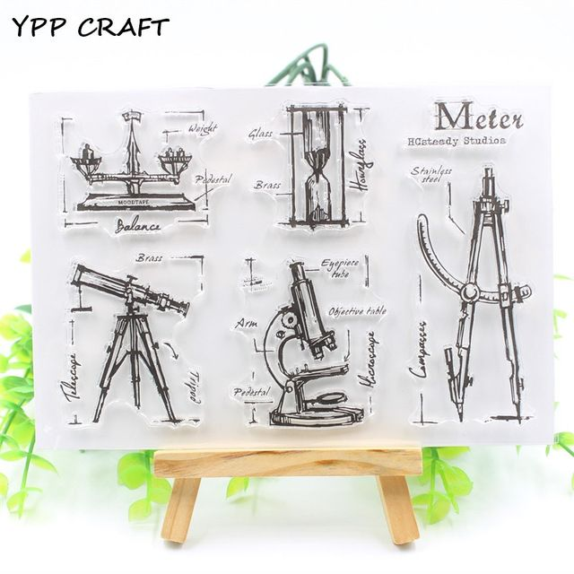 £2.58  - YPP CRAFT Measuring Instrument Transparent Clear Silicone Stamp/Seal for DIY scrapbooking/photo album Decorative clear stamp