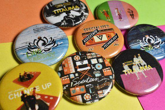 Kpop Seventeen Pinback Button Badges – 1.25″ SVT, Clap, Change Up, Trauma, Lilili Yabbay – Seventeen