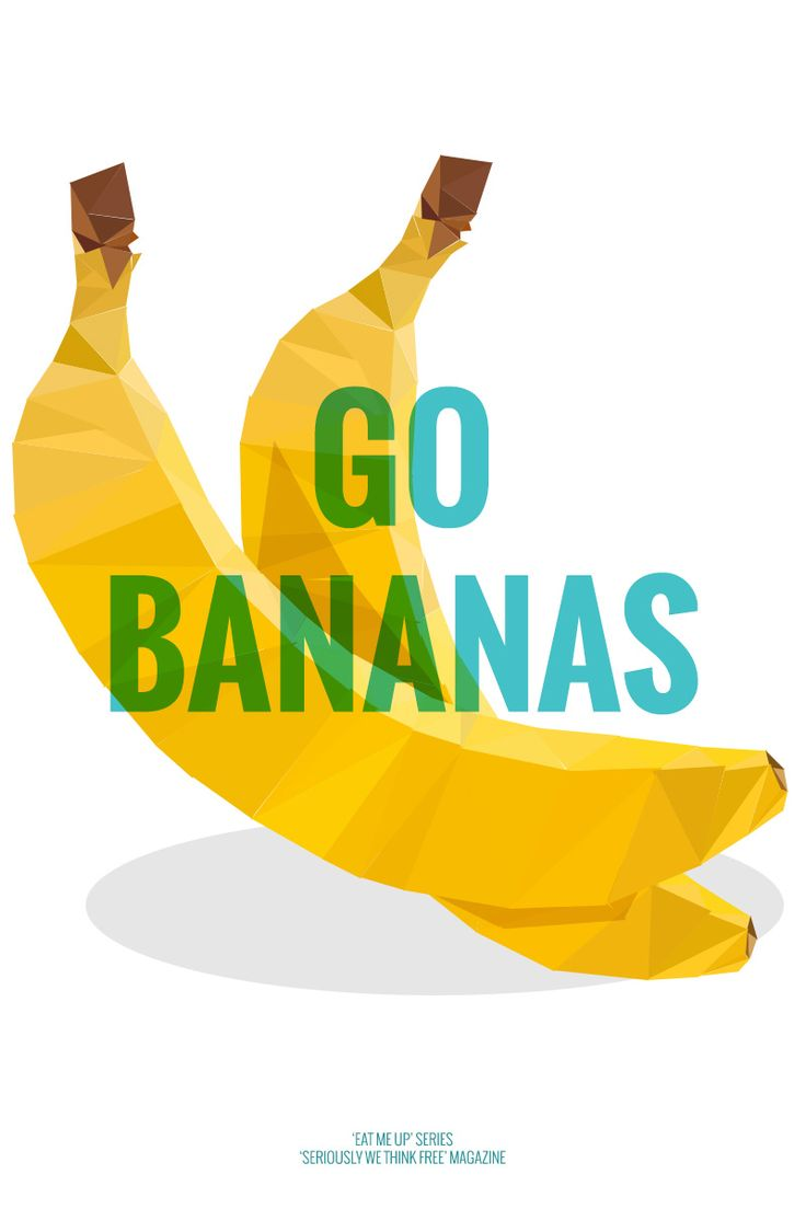 'Eat me up' postcard series by SWTF magazine. Go bananas #postcard #graphic #poster #fruit #quote