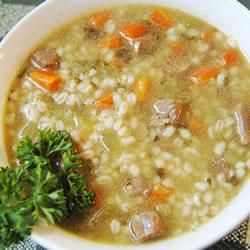 """Slow Cooker Beef Barley Soup   """"Absolutely the best. Very simple, nourishing, affordable meal. My husband very sincerely gets tears of happiness in his eyes just thinking about it, and he didn't even know he liked barley until I made this for him."""""""