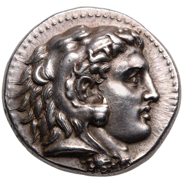 Ancient Greek Silver Tetradrachm Coin of Alexander the Great, 323 BC | From a unique collection of antique and modern antiquities at https://www.1stdibs.com/furniture/folk-art/antiquities/