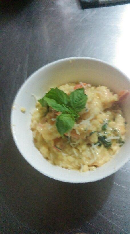 4 cheese and shrimp Risotto @ Bamboleio