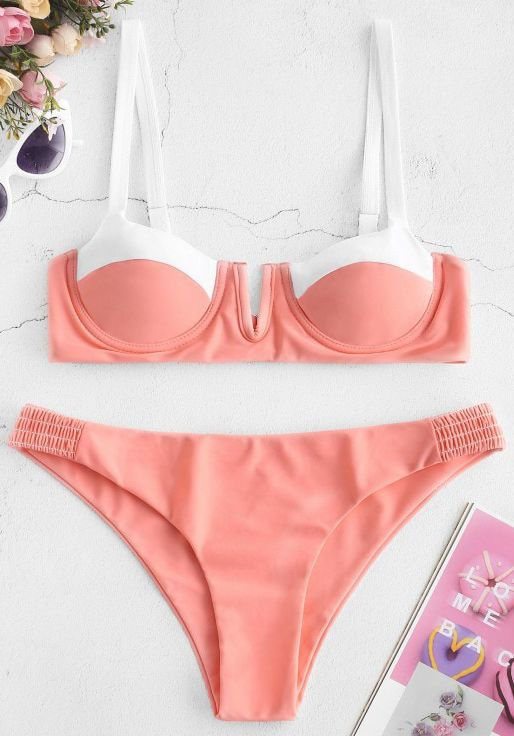 e752504a8b Give your vacation-ready wardrobe a colorful twist with our balconette bikini  set. The