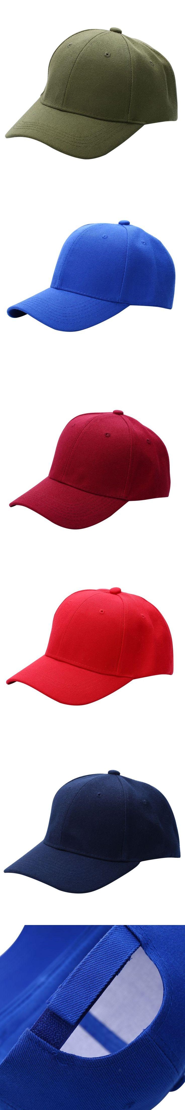 Solid Color Men Women Plain Baseball Cap Curved Visor Hat Hip-Hop Adjustable Peaked Hat Visor Caps Hot