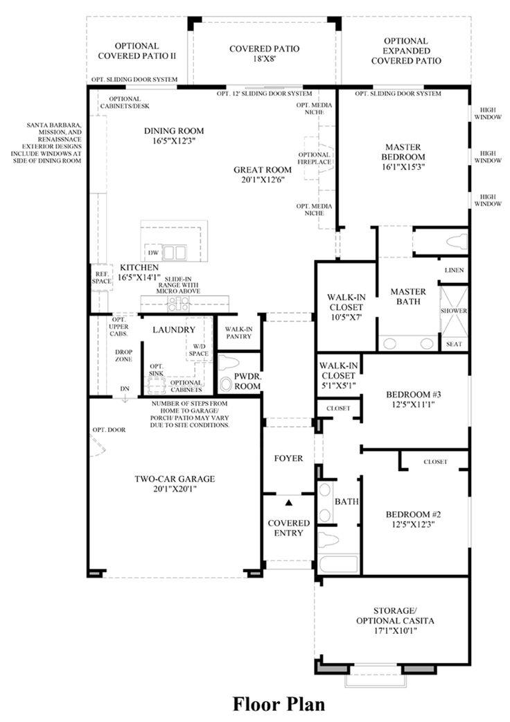 Best Floorplans Images On   Toll Brothers Floor