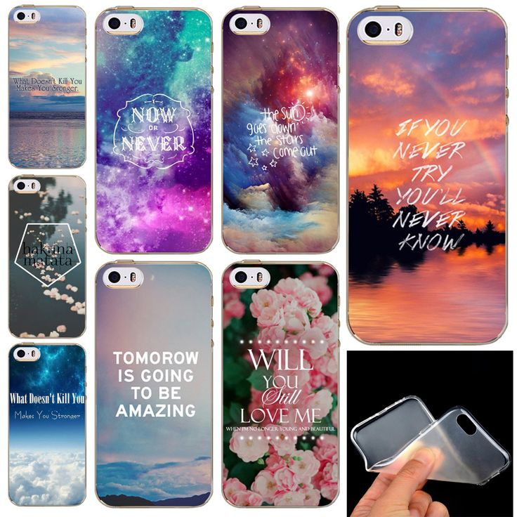 Back case for iPhone 5 5s SE Colorful Flowers Scenery City Painted Soft Silicone Transparent TPU Phone Case cover Back Skin