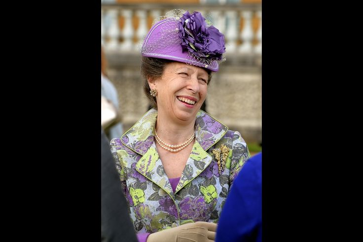 La princesse Anne à la garden-party de Buckingham palace à Londres, le 28 mai 2015