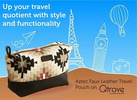 Made from hand-printed https://www.qtrove.com/products/aztec-faux-leather-travel-cosmetics-pouch  #canvas and #faux #leather, this uber-stylish #travel #pouch is #spacious enough to hold all your #essentials! Visit ow.ly/d5Ci301ftnZ today! #Bangalore #CuratedByQtrove #TravelCompanion #Marketplace  https://www.qtrove.com/products/aztec-faux-leather-travel-cosmetics-pouch