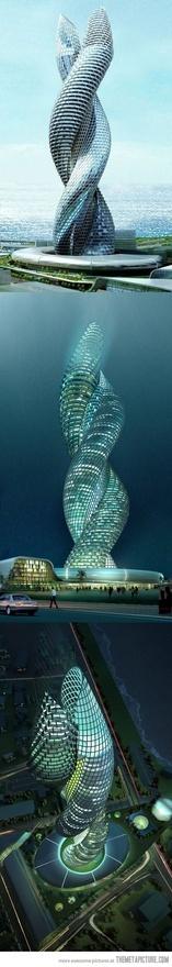 AmazingAmazing, Architecture Wonder, Beautiful, Buildings, Travel, Places, Kuwait, Cobra Towers, Design