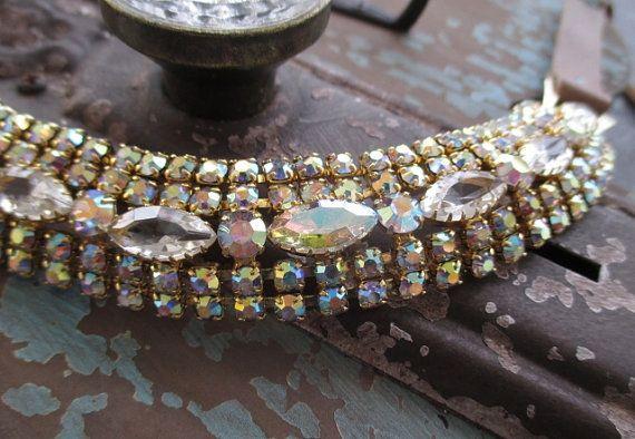 Antiguo collar de gargantilla de diamantes de por slashKnots