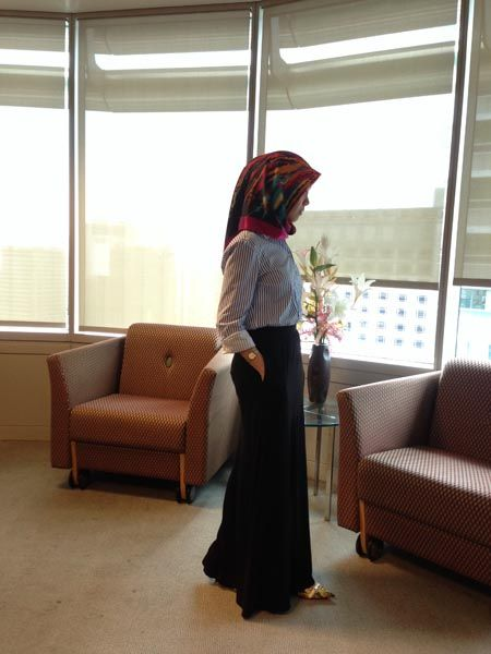 Hijab office Wear - 12 Ideas to Wear Hijab at Work Elegantly