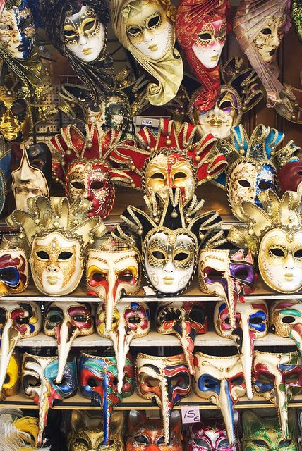 Masks in Venice, Italy #travel #venice.  Is it weird that the masks appeal to me more than the gondola's??