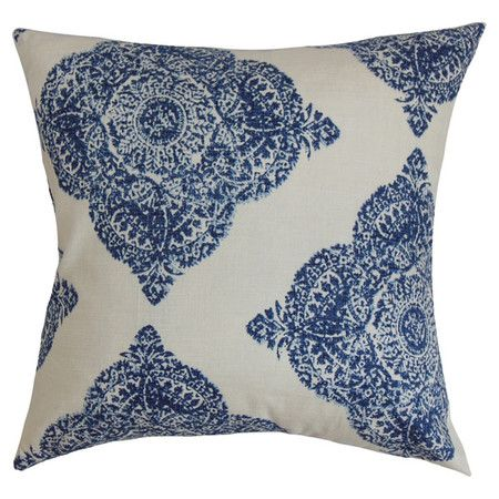 Add a fresh update to your master or guest bed with this cotton cushion, featuring a bold pattern.     Product: Cushion