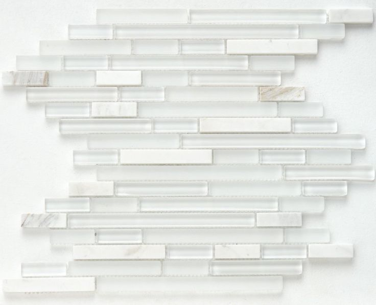 Glass and Calacatta Stone Mosaic Tile | Mineral Tiles