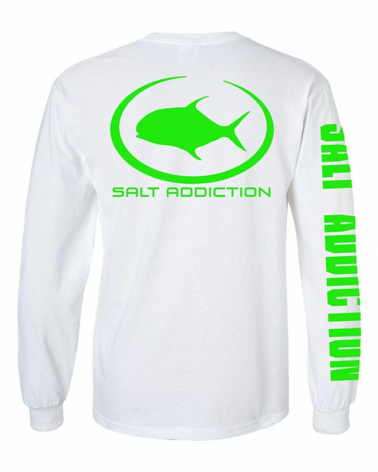 Details about salt addiction long sleeve fishing t shirt for Long sleeve fishing t shirts