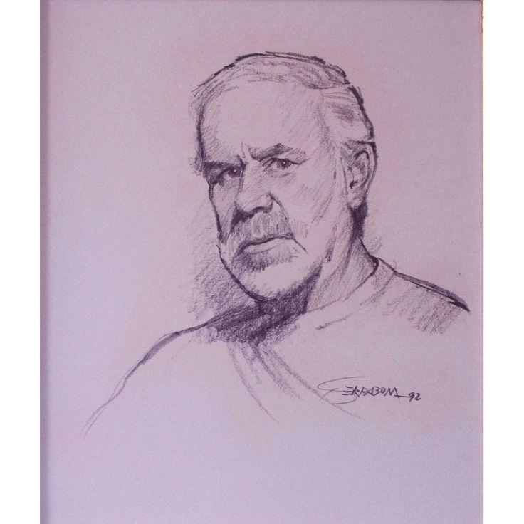 """JOSEP FONT SERRABONA """"Retrato"""". Carboncillo sobre papel. Firmado: Serrabona 92. Medidas: 48 x 41 cm."""