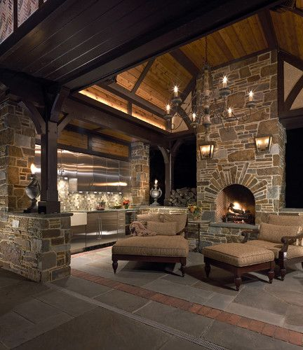 Rustic & Grand Outdoor Patio