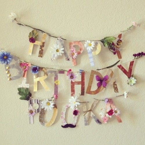 hippie flower child birthday banner bunting