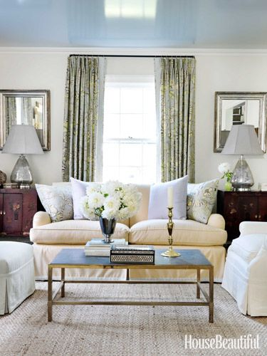 Scared of pattern? Try it on curtains - you won't see the full repeat, so it's softer. If the pattern is stretched over a sofa, you get the full impact.