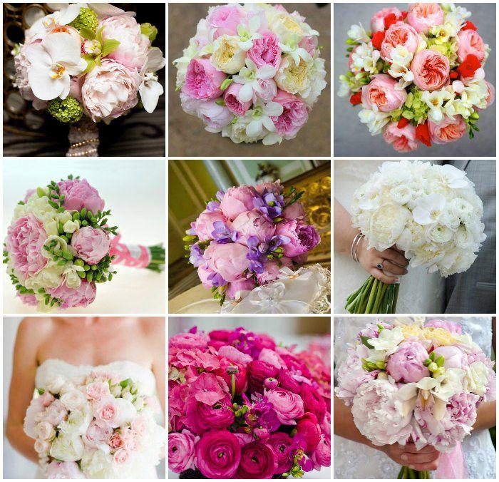 Свадебные букеты с фрезиями и орхидеями