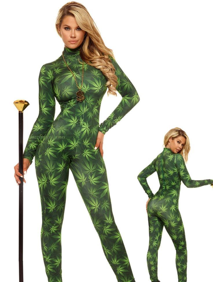 Sexy Marijuana Catsuit Weed Women S Bodysuit Dope