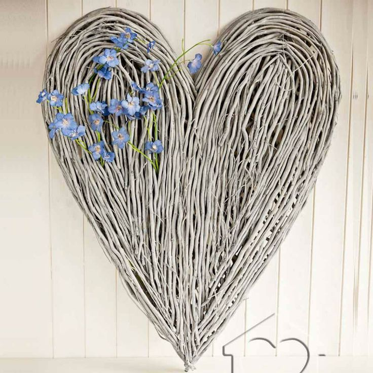 Extra Large Wicker Heart 163 47 00 Driftwood Art From