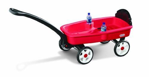 Sport Wagon by Little Tikes. Save 10 Off!. $59.99. From the Manufacturer                This Wagon comes in a small package, yet has enough space for two children. It features two molded-in cup holders and a backrest to ensure a comfortable ride.                                    Product Description                This little red wagon is the perfect size - big enough for two toddlers, but small enough to store and transport easily. Unlike other wagons, our durable body will...