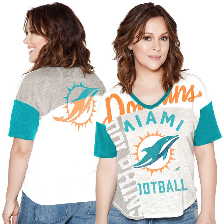 Miami Dolphins Touch by Alyssa Milano Women's Touch Power Play T-Shirt - White - $31.99
