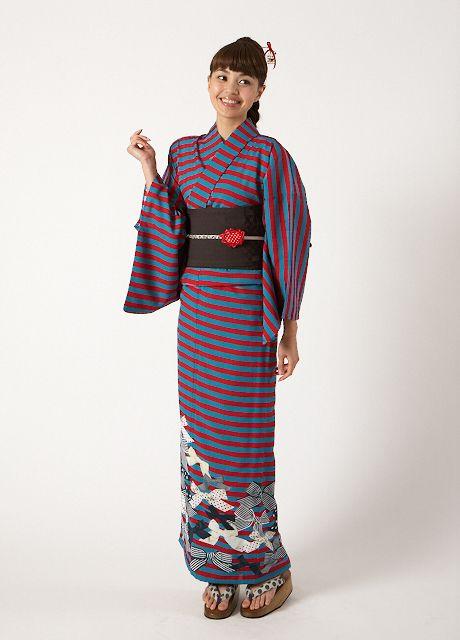 Furifu kimono fashion. Japan