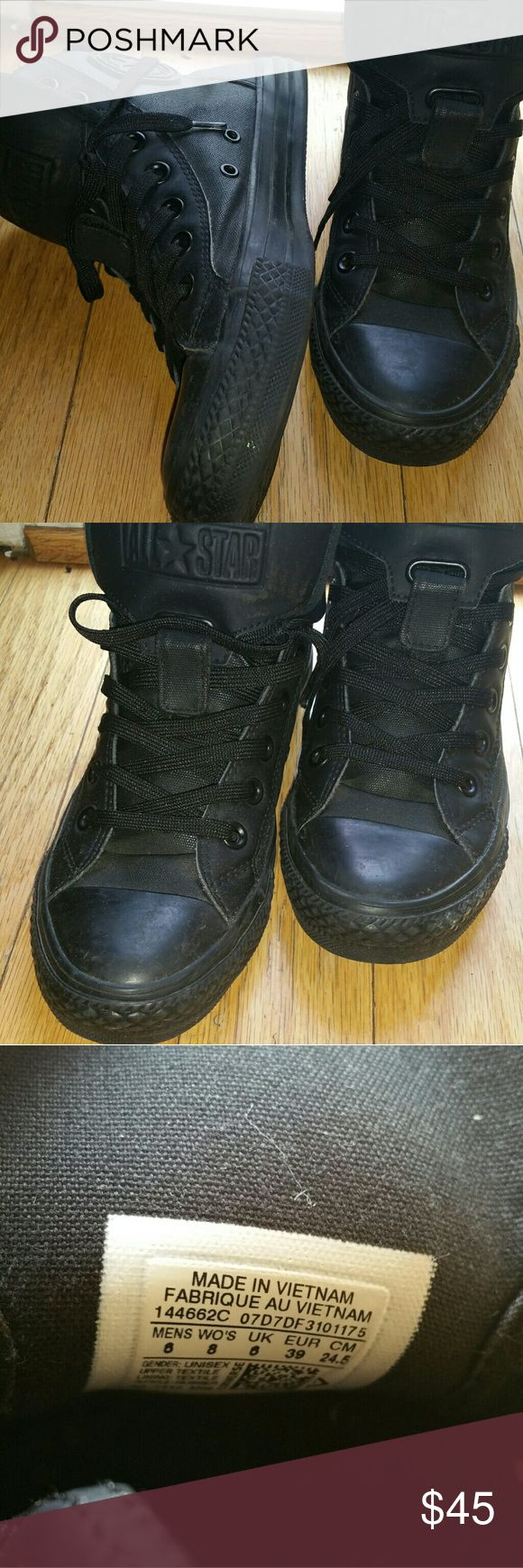 Converse High tops Black converse. Barely worn. In excellent condition. Women's 8. Converse Shoes