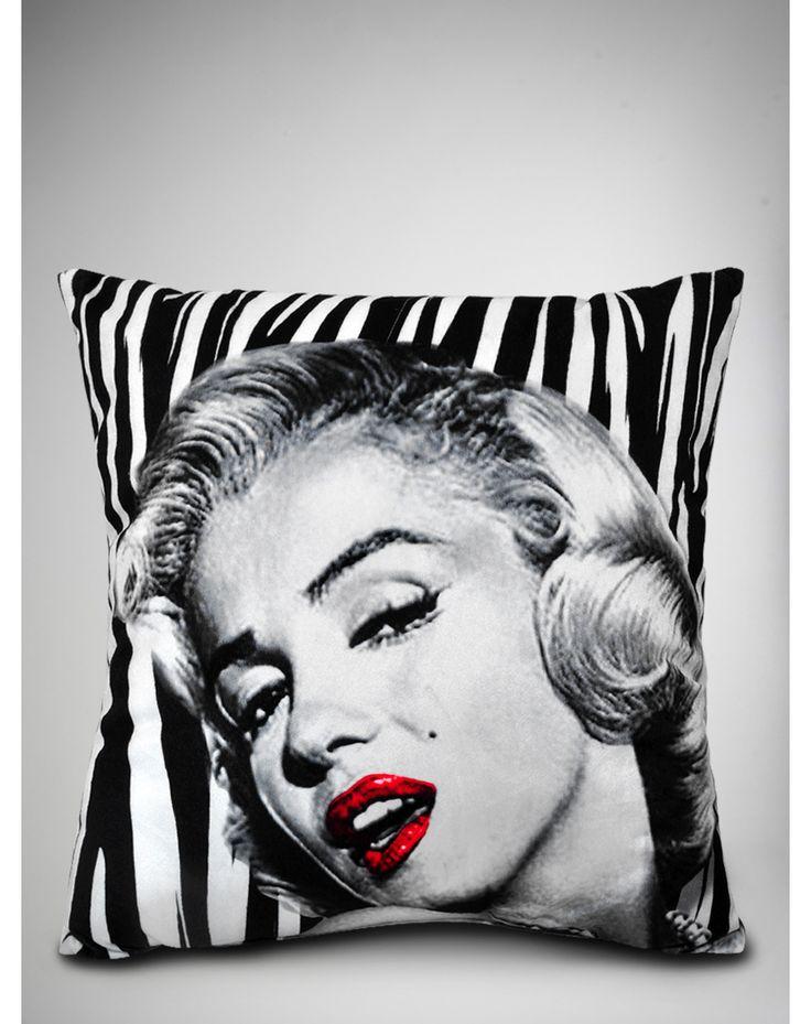 Marilyn Monroe Zebra Pillow. I WAAAAAAANT THIS!!!!!