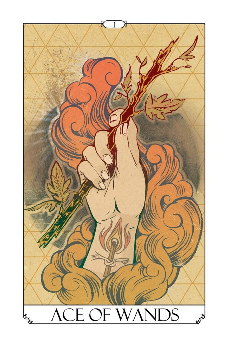 Ace of Wands by Jessie Durham - Tetrad Tarot