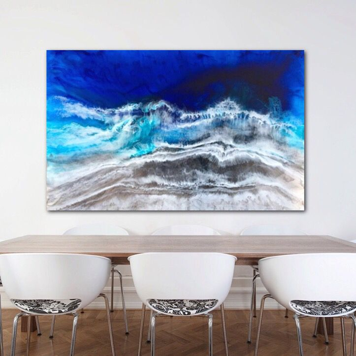 Blue Seas available soon in the Gallery. Resinart